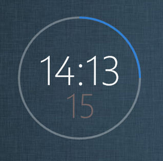 Windows8 RingClock by XwidgetSkin