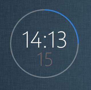 Windows8 RingClock by XwidgetSkin