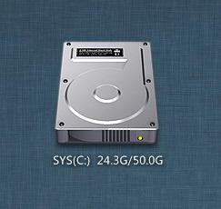 MAC HDD by XwidgetSkin