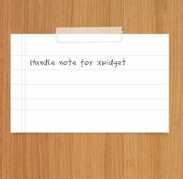 Handwritten notes by XwidgetSkin