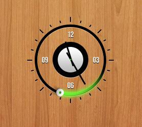 Green Clock by XwidgetSkin