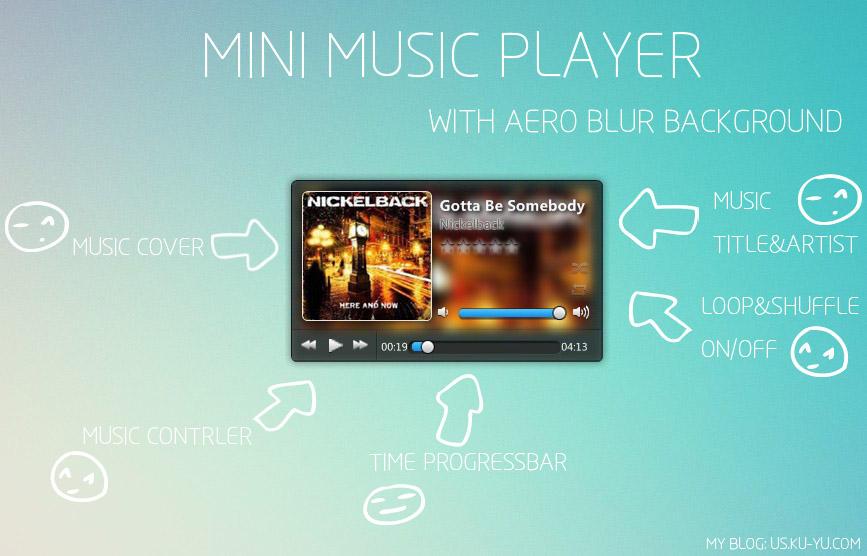 A Music Player For Xwidget by XwidgetSkin