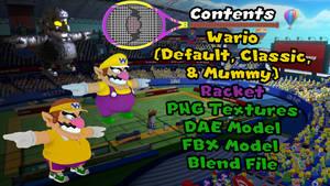 Wario| Mario Tennis Aces 3D Model
