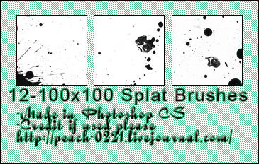 spatter icon brushes