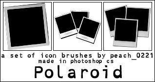 Polaroid Icon Brushes by princesspeach0221