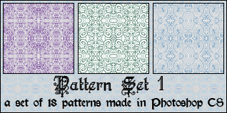 Pattern Set 1 by princesspeach0221