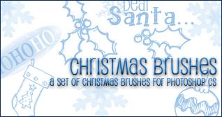 Christmas Brushes by princesspeach0221