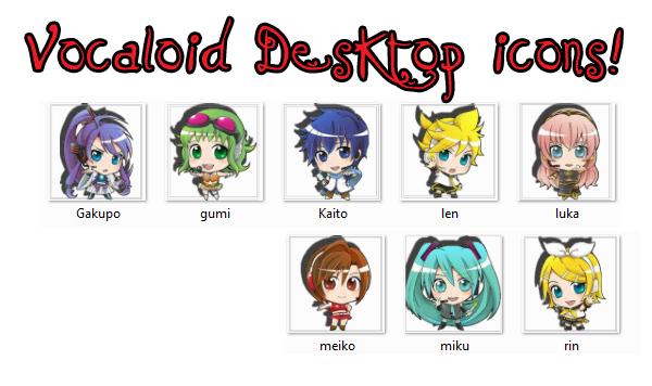 Desktop Icon Set Vocaloid Desktop Icons Set by