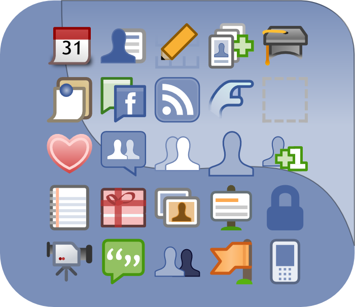 facebook ui icons vector