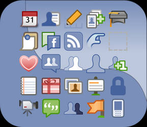 facebook ui icons vector by lopagof