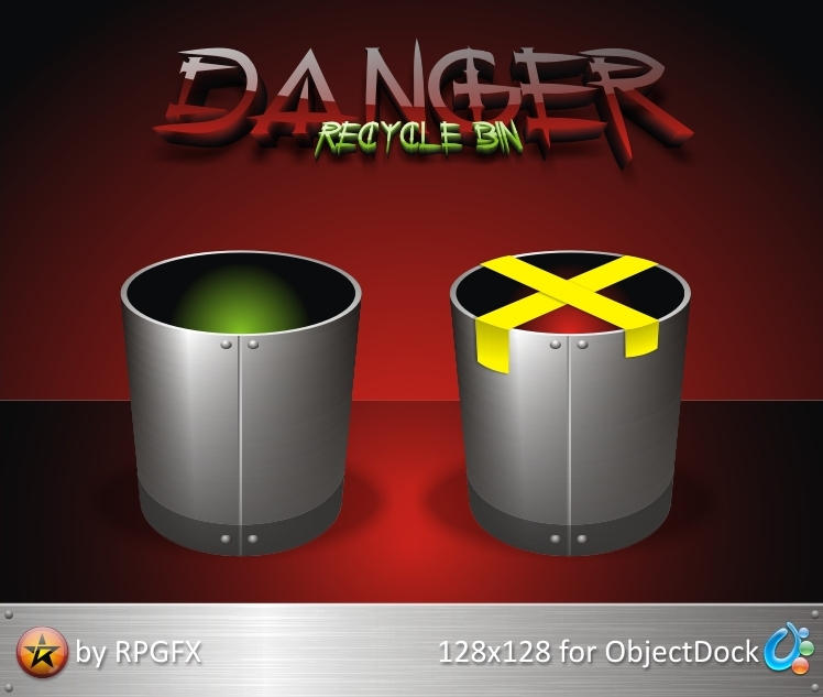 Danger Recycle Bin by RPGuere