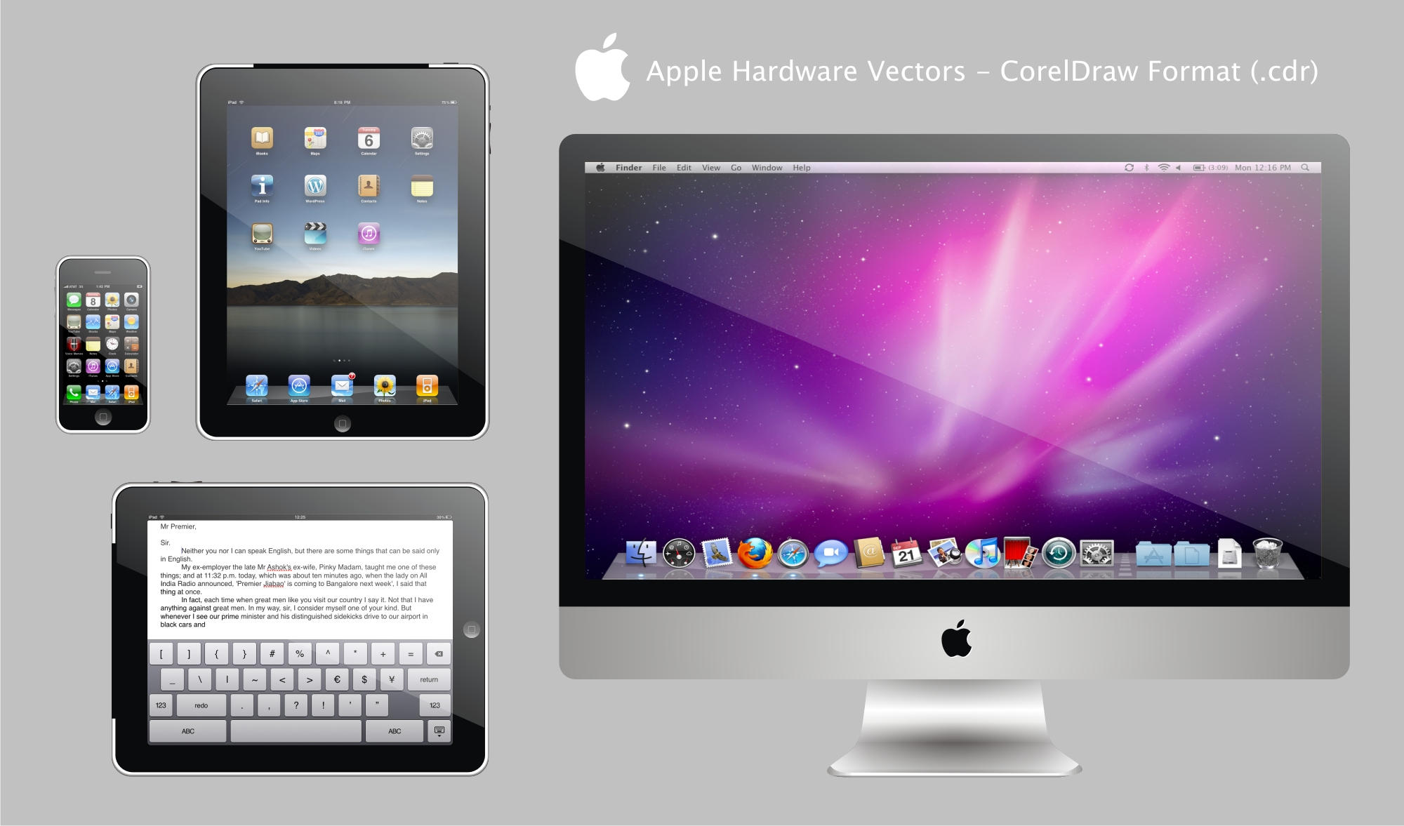 Apple Hardware Vectors by RPGuere