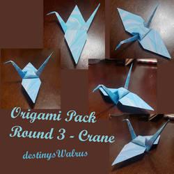 Origami Pack 3 - Crane