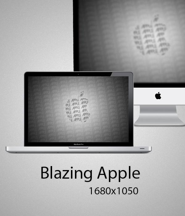Blazing Apple Wallpaper , Wallpaper 1680x1050