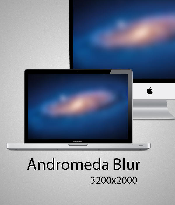 Andromeda Blur Wallpaper by malikearnestinc