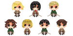Shingeki no Kyojin free to use icons ^^ by koutama