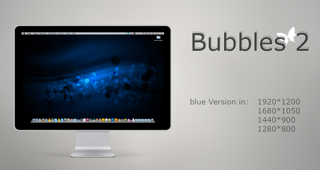bubbles 2 - blue