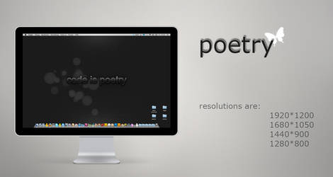 code is poetry by mydarktime