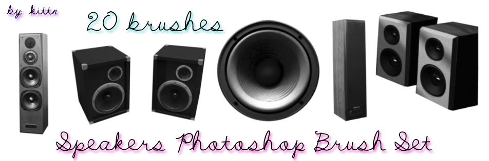 Speaker Brushes by kittn by punkdoutkittn