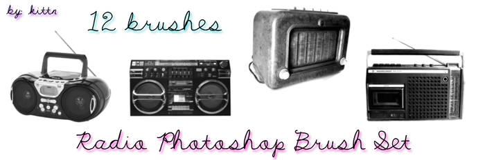 Radio Boom-Box Brushes by punkdoutkittn