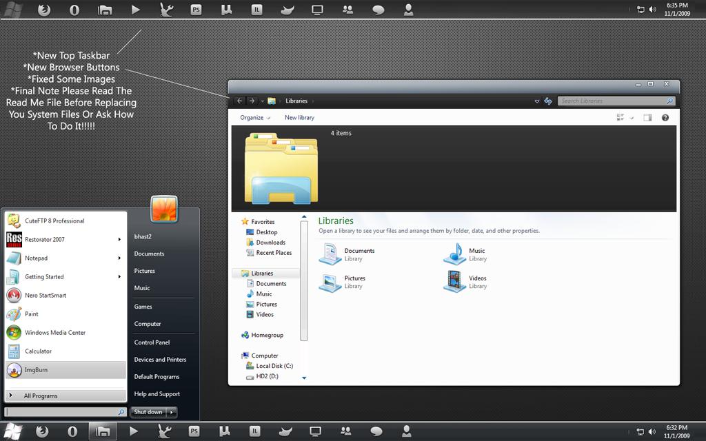 ElegantBlack Windows 7 Final by bhast2