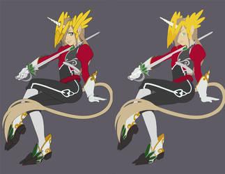 -Unicorn Knight- Flats by kamiawolf