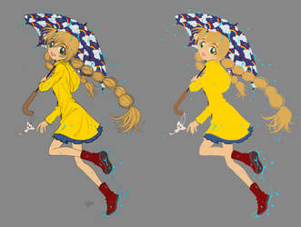 umbrella girl FLATS by kamiawolf