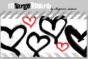 10xlarge Heart Brushes by cheyennemaria