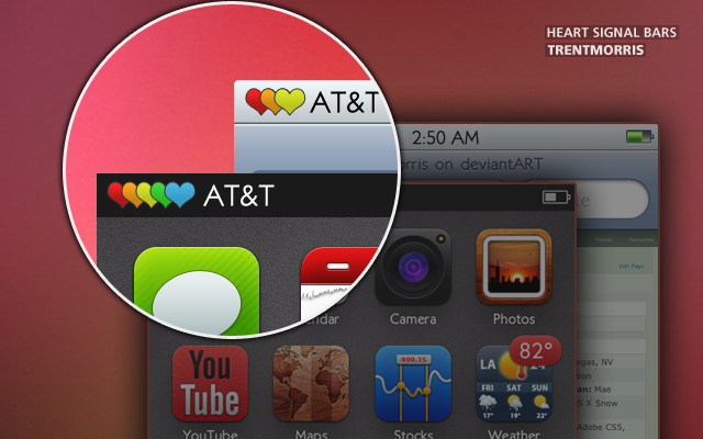 Heart Signal Bars - Updated for iOS 5 by trentmorris