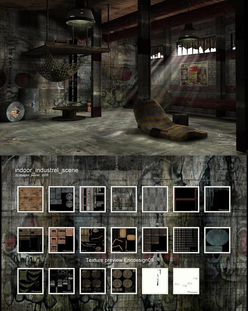 indoor industriel free scene by 3DEricDesign