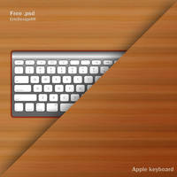 apple keyboard free psd by 3DEricDesign
