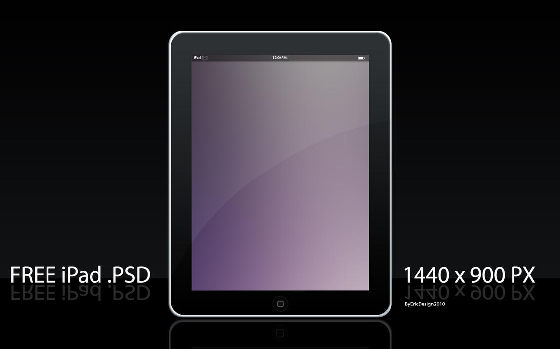 Free ipad template by 3DEricDesign on DeviantArt