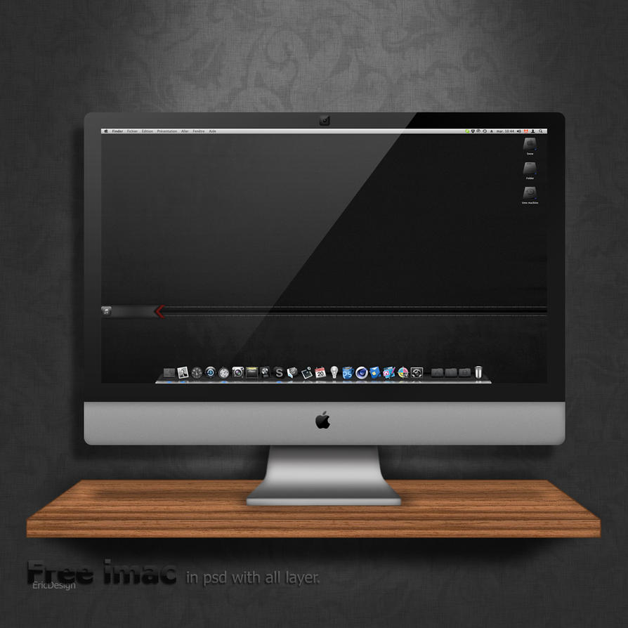 iMac free psd by 3DEricDesign