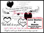 Love Quotes and Hearts Brushes