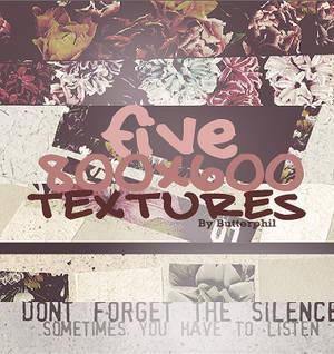 five 800x600 textures