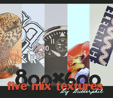 Five large mix textures by Butterphil