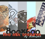 Five large mix textures