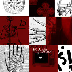 15 Red and White Textures Set 09