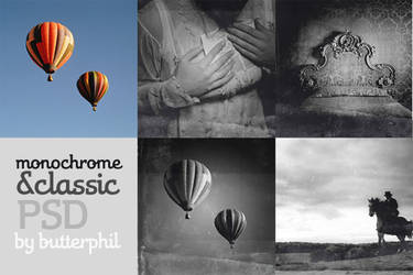 Monochrome and classic PSD
