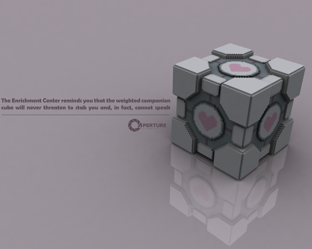 Companion Cube by itsklicken