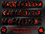 icones black and red