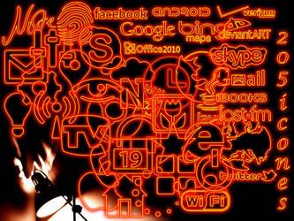 Icones Neon orange by mariok13