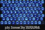 Bleu rond effet bleuete