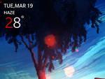 OnePlus Date and Weather Rainmeter Skin