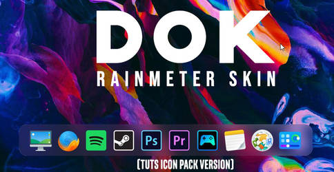 D O K - Rainmeter skin (with TUTS Icon Pack)