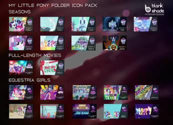 MLP Folder Icon Pack by BlankShade98