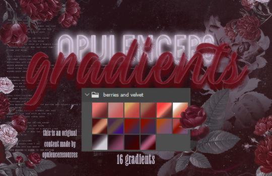 gradients (1) | berries and velvet by opulenceps