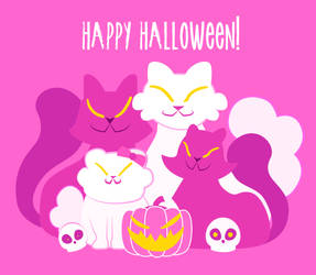 Happy Halloween animation from the cats