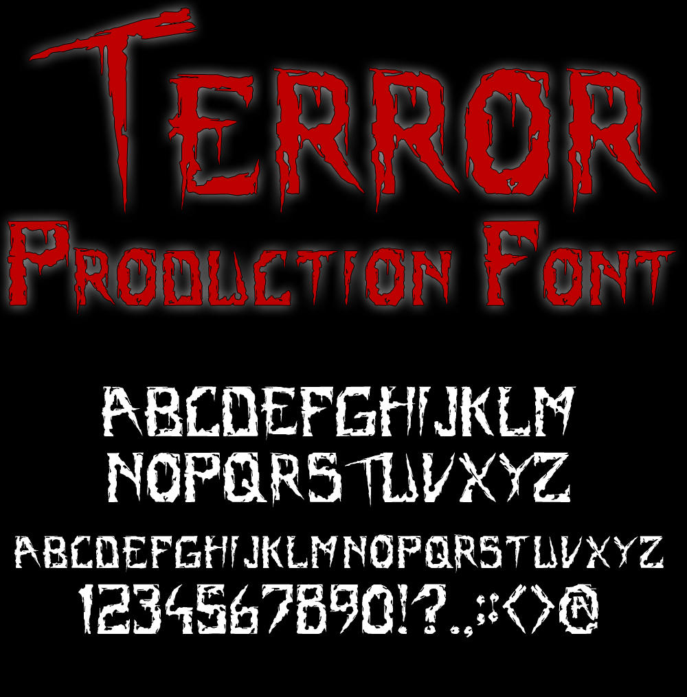 Terror Production Font by Fagertveit