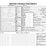 Character Sheets Revised